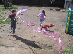 kids flying kites